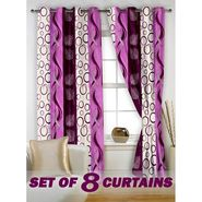 Set of 8 Printed  Window curtain-5 feet-WNR_4_2007