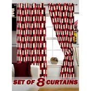 Set of 8 Printed  Window curtain-5 feet-WNR_4_3050