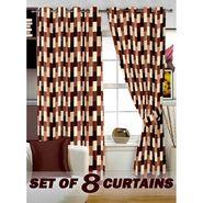Set of 8 Printed  Window curtain-5 feet-WNR_4_3051