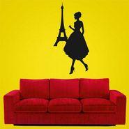 Beautifull Girl Decorative Wall Sticker-WS-08-134