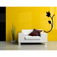 Black Floral Decorative Wall Sticker-WS-08-140