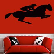 Horse Rider Decorative Wall Sticker-WS-08-142
