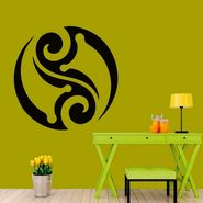 Rangoli Design Decorative Wall Sticker-WS-08-154