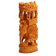Finely Carved Wooden Ambabari Elephant-WUD15303