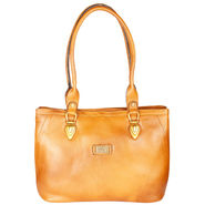 Xccess Genuine Leather Tan Handbag -Xlhb04