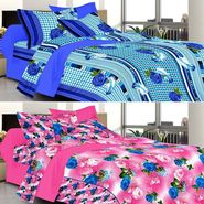 Valtellina Combo of 2 Double Bed Sheets with 4 Pillow Covers-YTD_C2_48_51