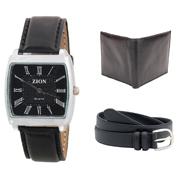 Combo of Zion Fashion 1 Wrist Watch + 1 Gents Wallet + 1 Belt_ZW 412