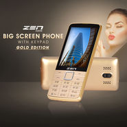 ZEN Big Screen Phone with Keypad - Gold Edition