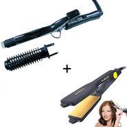 Combo of Nova Hair Curling Iron with Hair Straightner