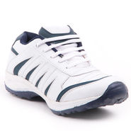 Foot n Style Synthetic Leather Sports Shoes FS 459 -White & Grey