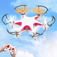 6 Axis Gyro 4Ch Ultrastable RC 3D Rollover Mini Hexacopter - Red White