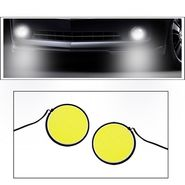 AutoSun COB 2pc Car DRL Fog Lamp LED Light Stick-On