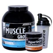 Gxn Advance Muscle Grow, 6 Lb ( 2.27Kgs ) Chocolate + Gxn Hyper Shot 300g
