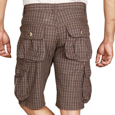Sparrow Clothings Cotton Cargo Shorts_wjcrsht03 - Brown