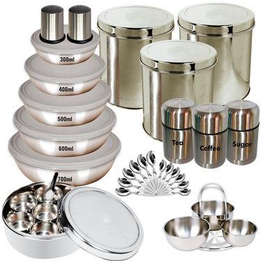 Branded 35 Pcs. Stainless Steel Storage Set