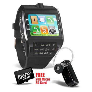Branded Dual SIM Watch Mobile with Keypad & Camera + Bluetooth