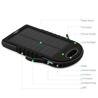 Callmate Power Bank Small Solar 5000 mAh - Black