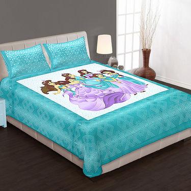 Set of 4 Cotton King Size Jaipuri Sanganeri Printed Bedsheets With 8 Pillow Covers-100x100B4C1