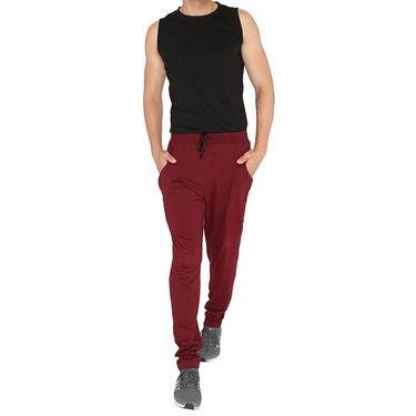Chromozome Regular Fit Trackpants For Men_10529 - Maroon