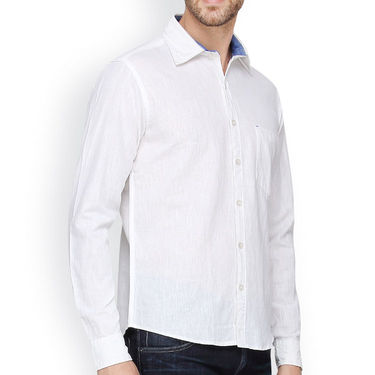 Crosscreek Full Sleeves Cotton Casual Shirt_1180313 - White