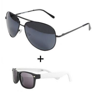 Combo of Fidato Sunglasses + Aviator + Wayfarer_FD047