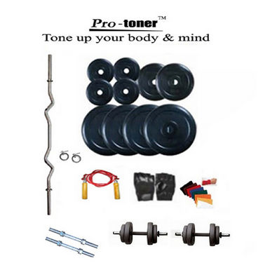 Protoner Weight Lifting Home Gym 70 Kg + 3 Rods + Gloves + Rope + W. Band