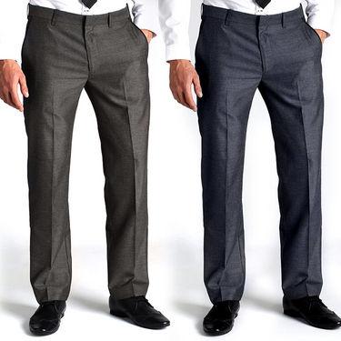 Pack of 2 Raymond Polyblended Pant Material For Men_RYMD_PNT_COM_LS_0801 - Blue