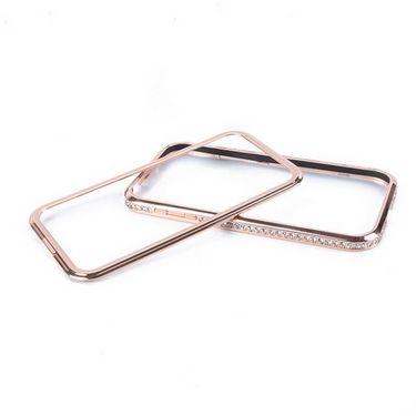 Snooky Premium Metal & Diamond Bumper Case Cover For Iphone 4s / 4g Td8509