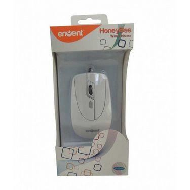 Envent HoneyBee Cool USB Mouse - White