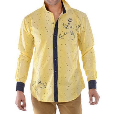 Bendiesel Cotton Casual Shirt For Men_Bdc065 - Yellow