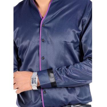 Bendiesel Mix Cotton Casual Shirt For Men_Bdcw037 - Blue