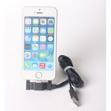 Callmate Multi-function Holder Data Cable for iPhone 6/6Plus 5/5S/5C, iPad Air/2, iPad 4.iPad mini3/2,iPod touch,iPod nano 7- Black