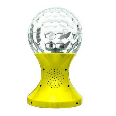 Callmate SJ-887FM LED Crystal Magic Ball Speaker - Yellow