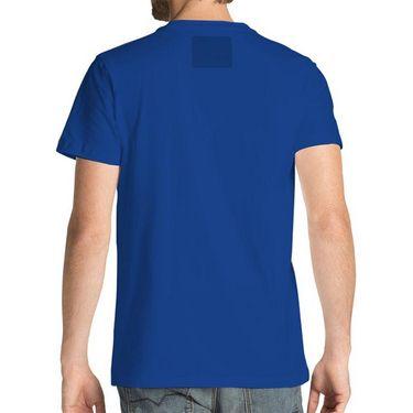 Branded Half Sleeves Printed Cotton T shirt For Men_Afbt - Blue