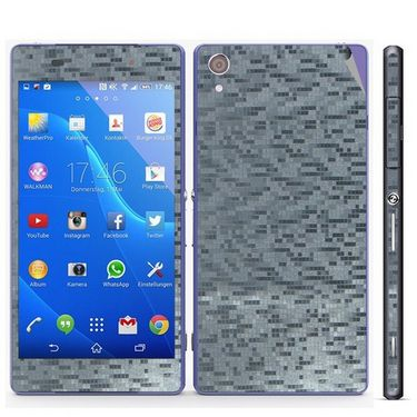 Snooky Mobile Skin Sticker For Sony Xperia Z2 - Silver