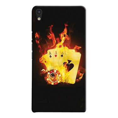 Snooky 19843 Digital Print Hard Back Case Cover For Huawei Ascend P6 - Black