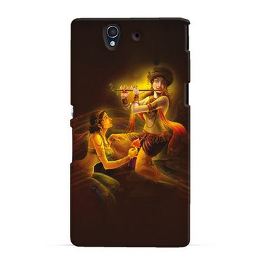 Snooky 19728 Digital Print Hard Back Case Cover For Sony Xperia Z - Brown
