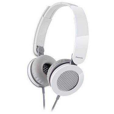 Panasonic RP-HXS200E-W Stylish Stereo Headphone with Compact Folding Mechanism - White