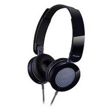 Panasonic RP-HXS200E-K Stylish Stereo Headphone with Compact Folding Mechanism - Black