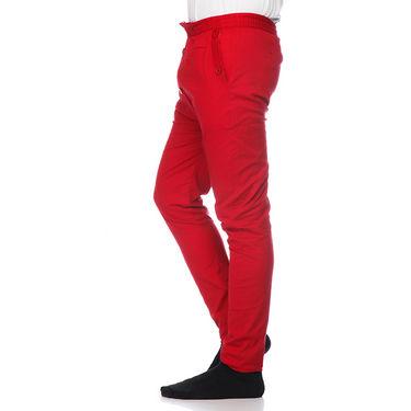 Delhi Seven Cotton Plain Lower For Men_Akdlwr5 - Red
