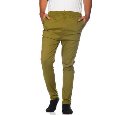 Delhi Seven Cotton Plain Lower For Men_Akdlwr6 - Green