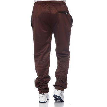 Delhi Seven Polyester Plain Trackpant For Men_Aktpm30 - Brown