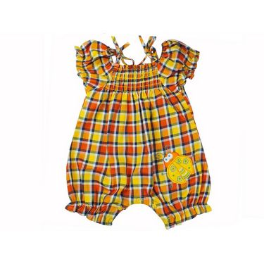 Ole Baby Ruffled Sleeves Style Dungaree _OB-DGGR-428