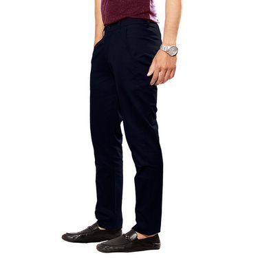 Uber Urban Regular Fit Cotton Chinos For Men_50151621421Nvy - Navy Blue