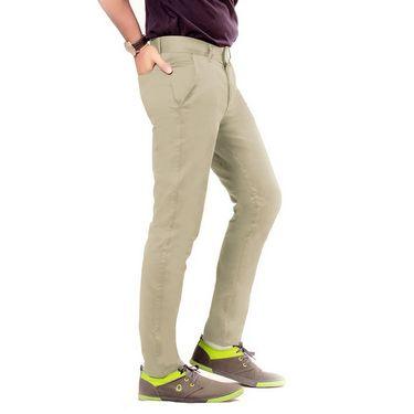 Uber Urban Regular Fit Cotton Chinos For Men_70051731435Faw - Brown
