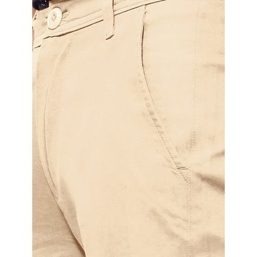 Uber Urban Regular Fit Cotton Trouser For Men_50151621421Bg - Beige