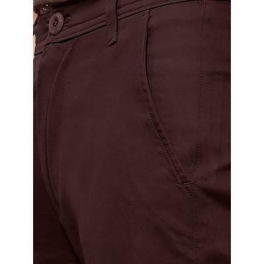 Uber Urban Regular Fit Cotton Trouser For Men_50151621421Dgr - Brown