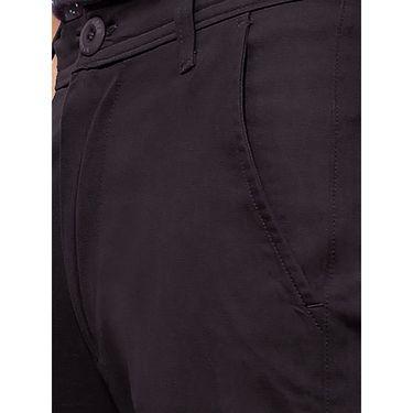 Uber Urban Regular Fit Cotton Trouser For Men_50151621421Blk - Black