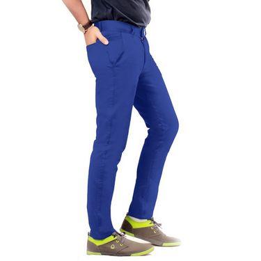 Uber Urban Regular Fit Cotton Chinos For Men_1435Ebl - Blue