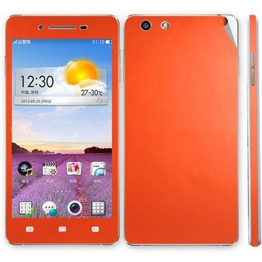 Snooky Mobile Skin Sticker For Oppo R1 R829t 20911 - Orange